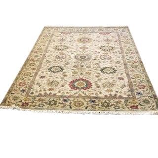 Vintage Floral Wool Rug - 6′3″ × 9′2″
