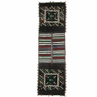 Black Vintage Turkish Carpet Saddlebag