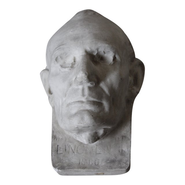 Plaster Abraham Lincoln Head/Mask - Image 1 of 6