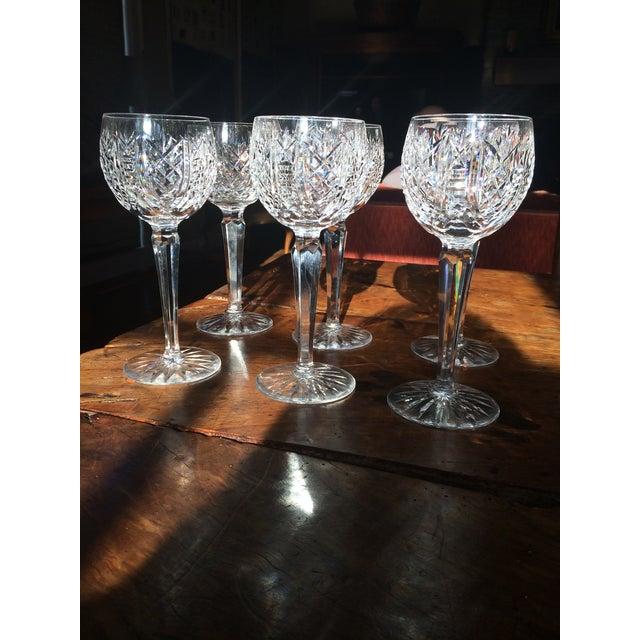 Waterford Crystal Stem Wine Hock Glasses - Image 2 of 4