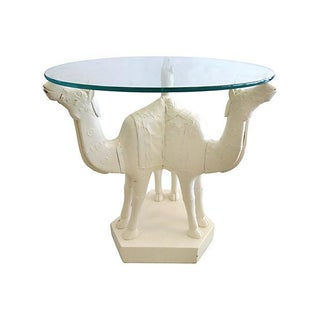 Anglo Indian Metal Clad Camel Side Table