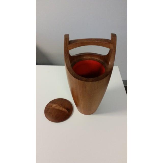 Image of Mid-Century Teak Ice Bucket by Jens Quistgaard