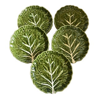 Portuguese Lettuce Leaf Plates - Set of 5