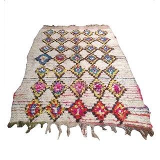Vintage Moroccan Boucherite Rug 4' x 6'