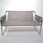 Image of Zermatt Tubular Chrome Sling-Back Settee
