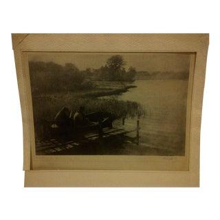A.W. Hill Vintage Black & White Photograph Circa 1900