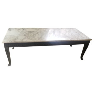 French Style Vintage Marble Top Coffee Table