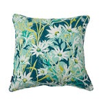 Image of Green & Blue Harbour Mist Throw Pillow