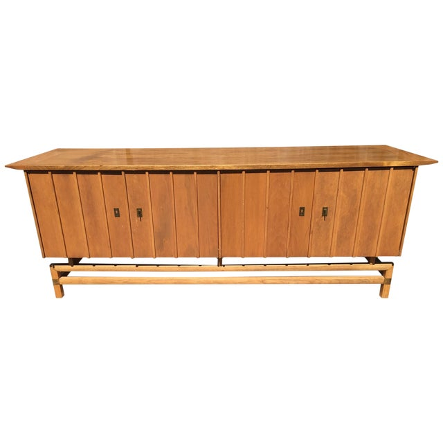 Vintage Mid-Century Chinoiserie Buffet - Image 1 of 6