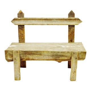 Antique Primitive Log Bench