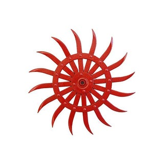 Vibrant Red Cast Iron Cultivator Wheel