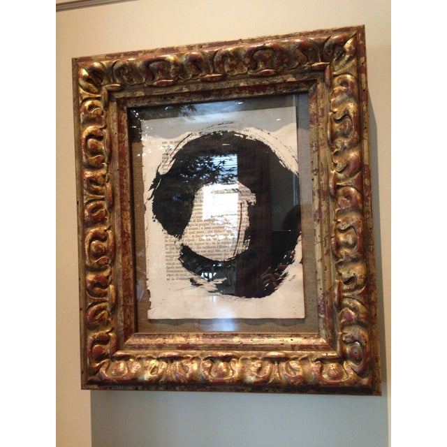 """John Mayberry Painting in Custom Frame - """"Circle"""" - Image 4 of 5"""