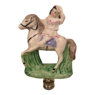 Old Staffordshire Figurine Lamp Finial