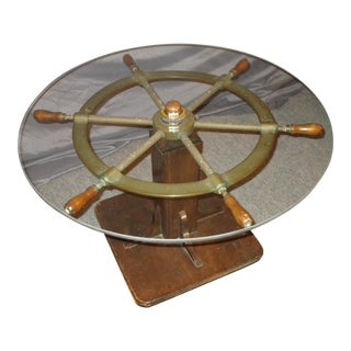 Ship's Wheel Cocktail Table