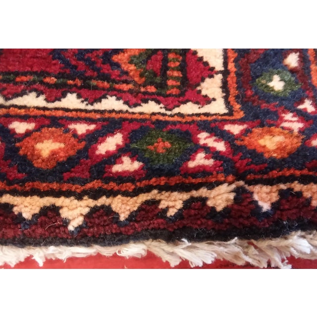 """Navy & Red Persian Tribal Runner - 3'7"""" X 9'10"""" - Image 2 of 5"""