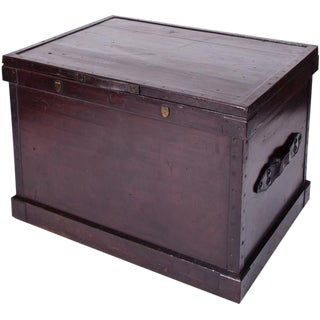 Camphor Wood Trunk With Leather Handles