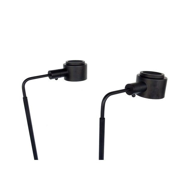 Original Casella Black Floor Lamps - Pair - Image 4 of 9