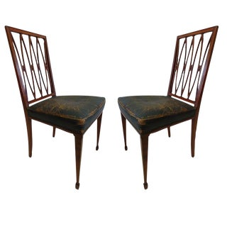Two French 1940s Desk Chairs/ Side Chairs Attributed to Andre Arbus