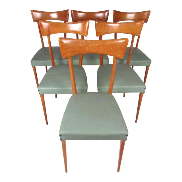 Italian Modern Ico Parisi Style Dining Chairs - Set of 6 - Image 1 of 11
