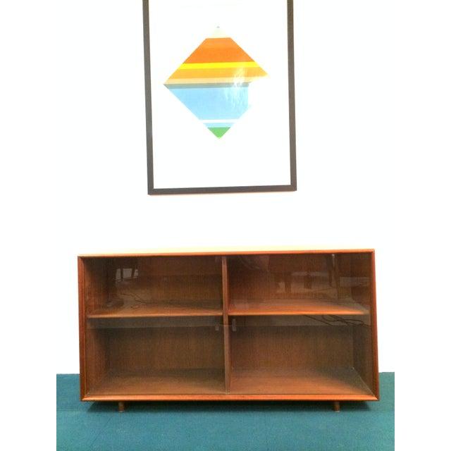 Image of Danish Modern Teak Book or Display Case