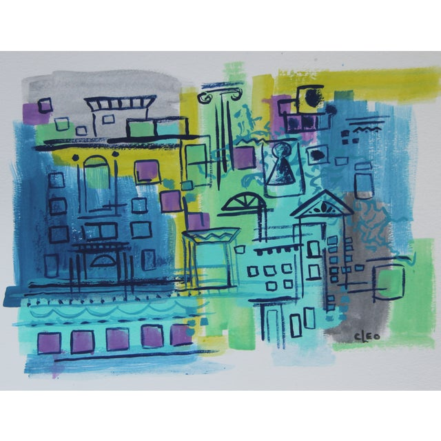 """Image of """"City View"""" Abstract Painting by Cleo"""