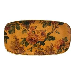 Mid-Century Floral Fiberglass Tray