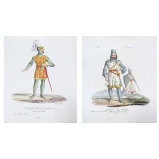 Original 1799 Italian Soldier Prints - A Pair