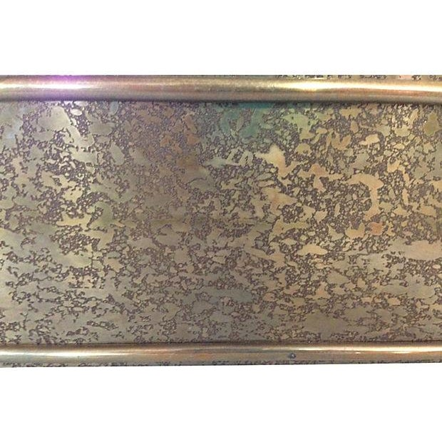 1970s Solid Brass Arched Framed Mirror - Image 4 of 4