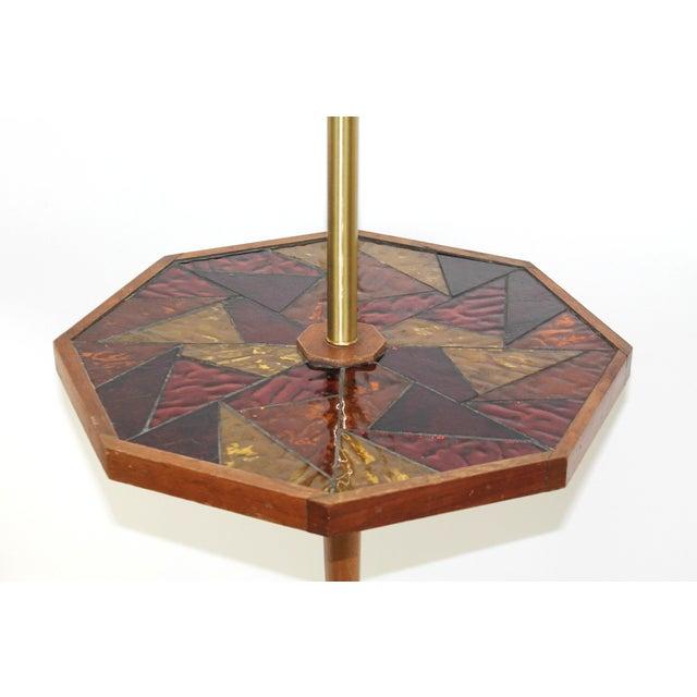 Image of Mid-Century Georges Briard Mosaic Floor Lamp Table