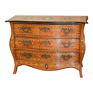 19th Century English Hand-Painted Commode