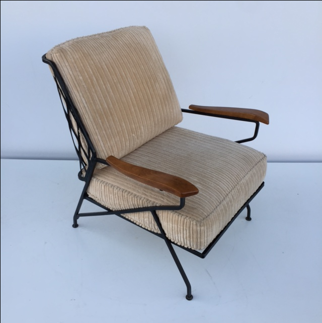 Mid Century Tempestini Salterini Iron Lounge Chair