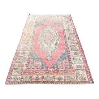 Antique Turkish Hand Woven Anatolian Area Rug - 4′6″ × 7′8″