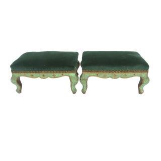 Antique Italian Gilt Florentine Footstools - A Pair