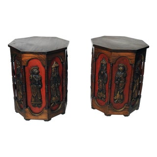 """Medieval"" Modern Side Tables - A Pair"