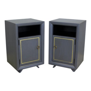 Pair of Mid Century Grey Nightstands