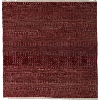 "Savannah, Hand Knotted Square Rug - 4' 0"" x 4' 1"""