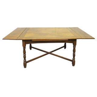 Solid Wood Four Leg Folding Table