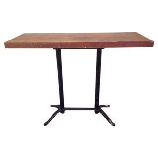 Industrial Table With Butcher Block Top