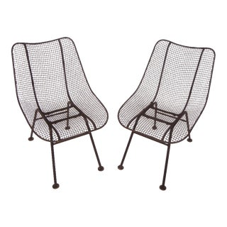 Russell Woodard Wrought Iron & Mesh chairs