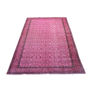 Overdyed Pink Rug - 6′2″ × 9′10″