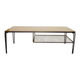 Vintage Iron Mesh Tiered Coffee Table