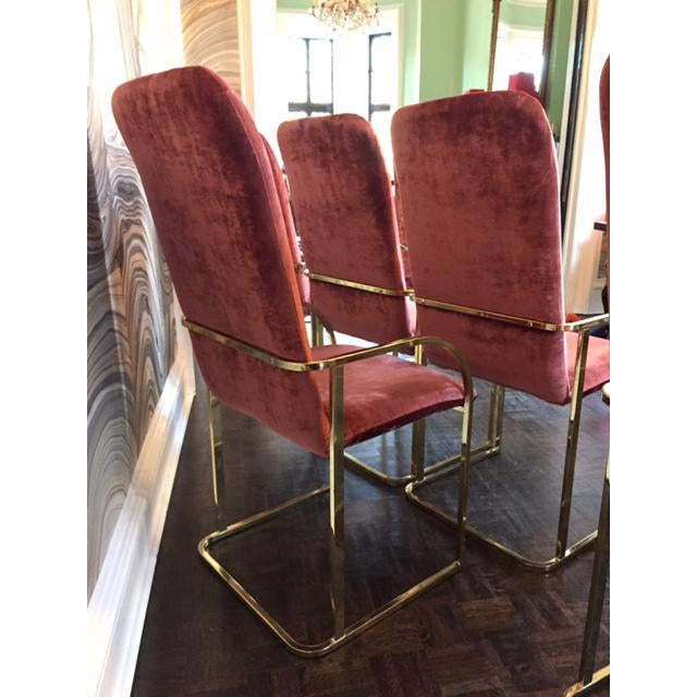 Milo Baughman Brass Dining Chairs - Set of 6 - Image 3 of 11
