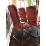 Image of Milo Baughman Brass Dining Chairs - Set of 6