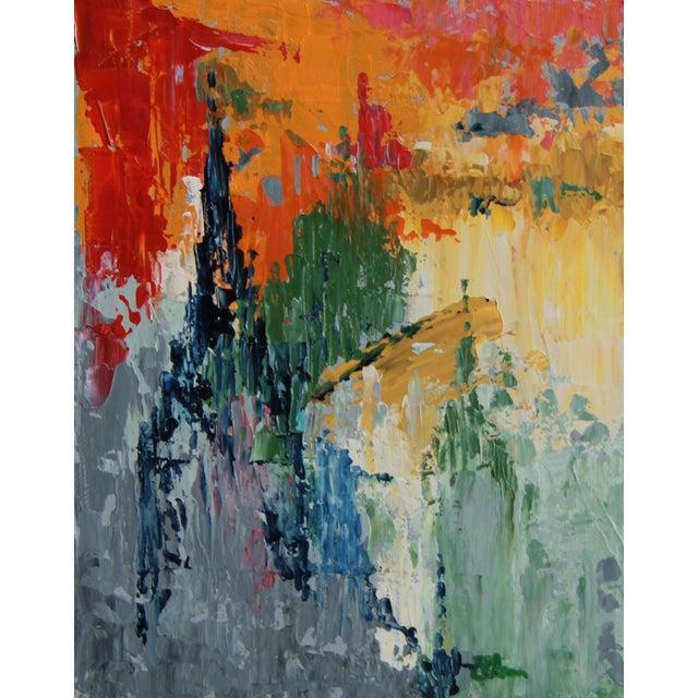 """""""Southwark, London, at Twilight"""" Acrylic Painting - Image 1 of 2"""