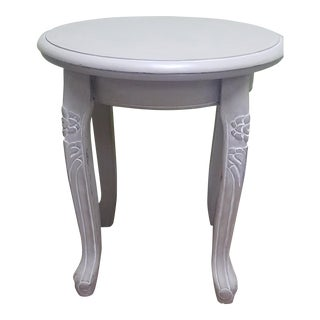 Shabby Chic Hand Painted Gray Side Table