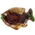 Image of Vintage French Majolica Fish Dish