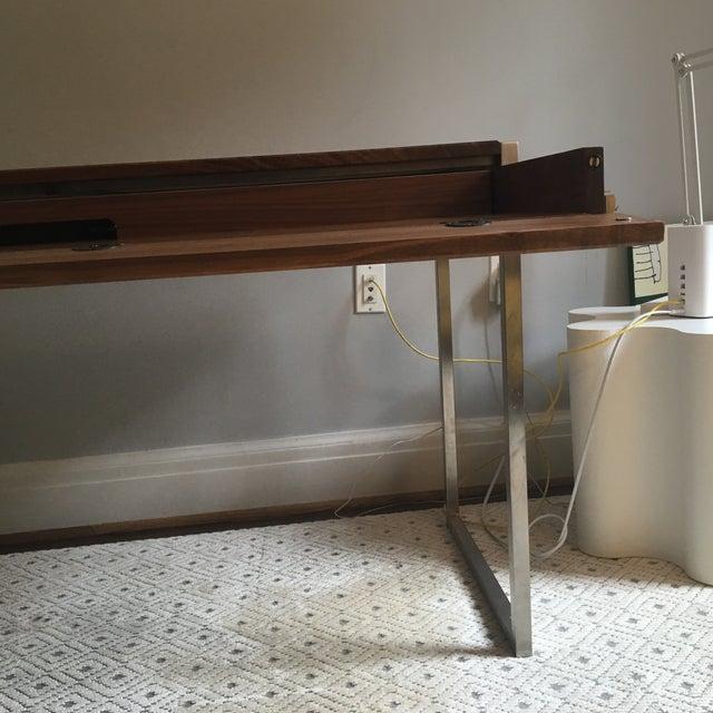 Room & Board Basis Walnut & Steel Desk - Image 4 of 5