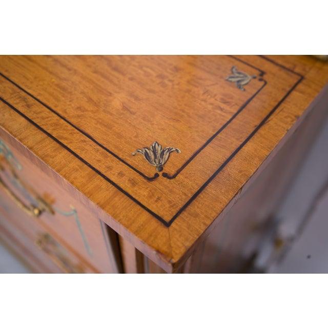 English Adams Style Painted Satinwood Secretary - Image 10 of 10