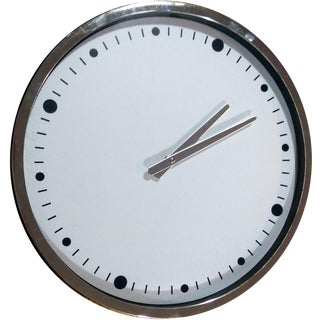 Modern Minimalist Chrome Wall Clock