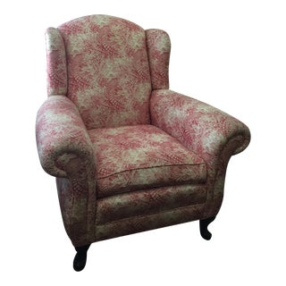 Red & Cream Toile Armchair